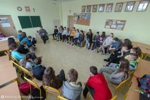 Debata uczniów klas 6, 7a i 7b