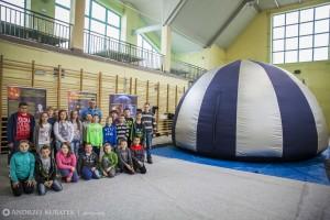 Nietypowa lekcja astronomii, czyli sferyczne planetarium
